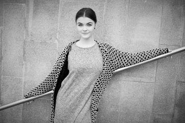 "Frida Ottesen, deltaker i den prisbelønnede webtv-serien ""Sweatshop- dødelig mote""."
