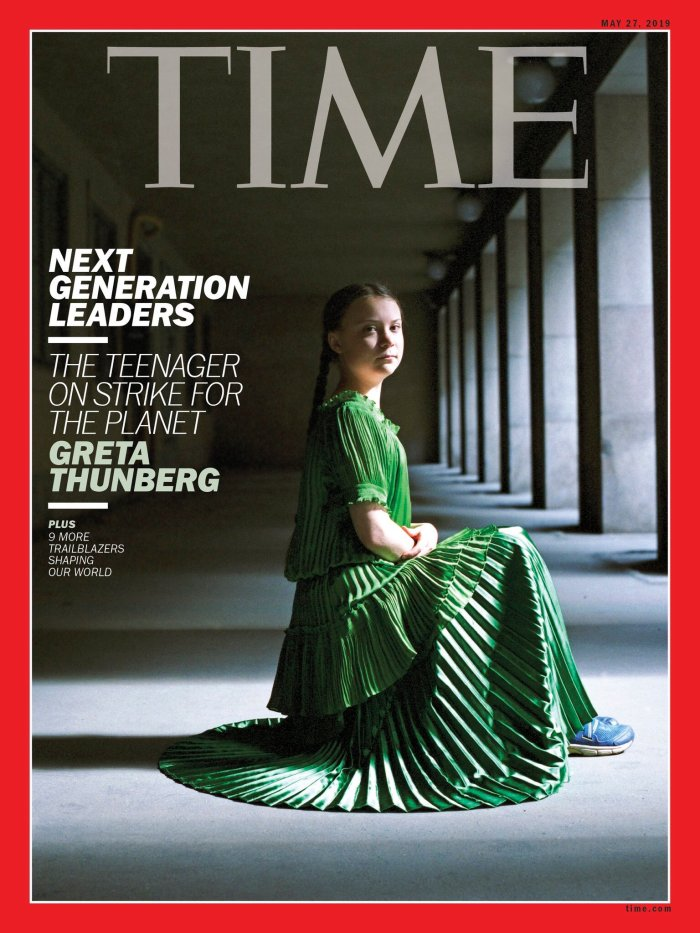 GReta thunberg time cover mai 2019